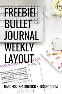 Freebie! Bullet Journal Weekly Page Download