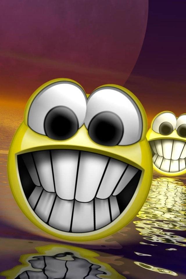 iPhone Smiley Teeth Wallpaper