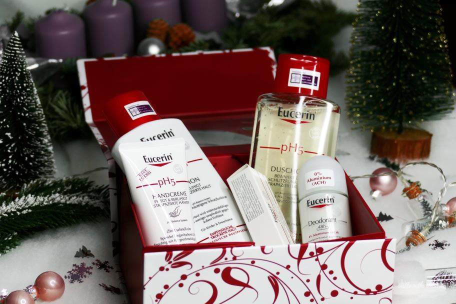 Eucerin Weihnachtsset trockene sensible Haut Adventverlosung