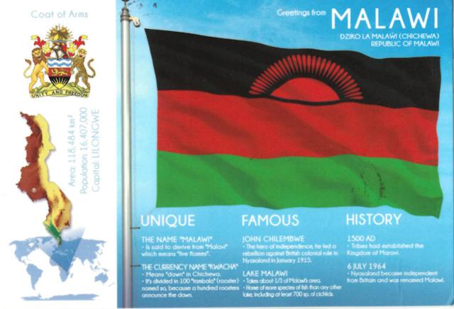 flag Postcard from Malawi