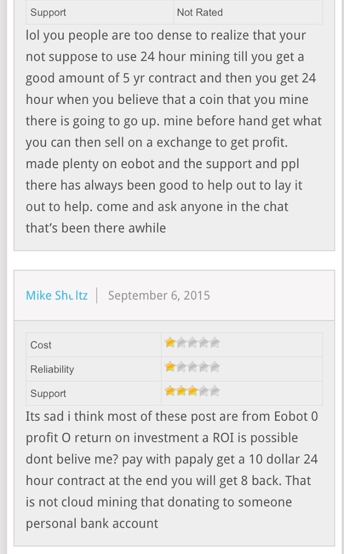 REVIEW on EOBOT site users comments with screenshots.