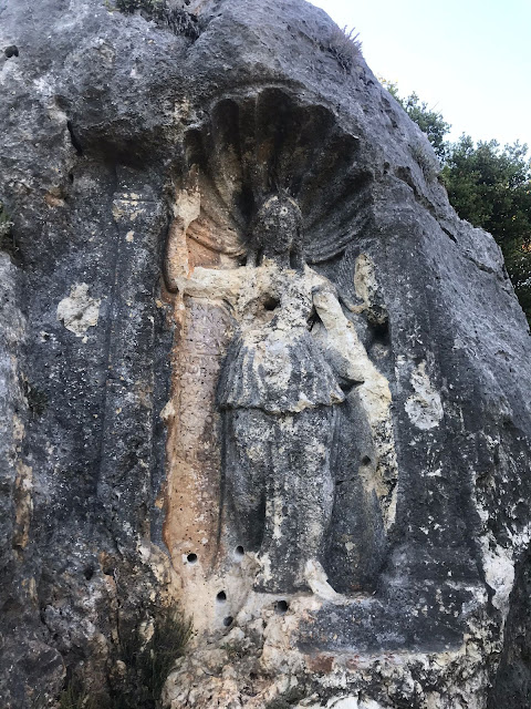 Ancient Athena relief in southern Turkey vandalised