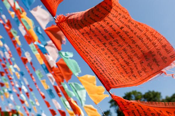 苗栗後龍台灣桑耶寺五色風馬旗隨風飄揚,色彩繽紛風馬城祈福拍美照