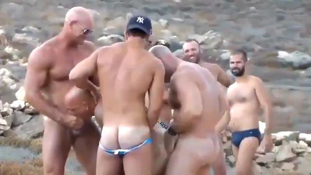 orgia en la playa