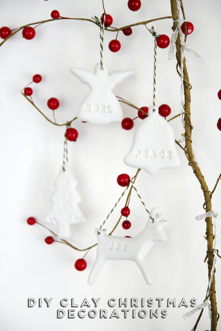 Christmas Decorations Made From Clay : Diy clay christmas decorations gathering beauty