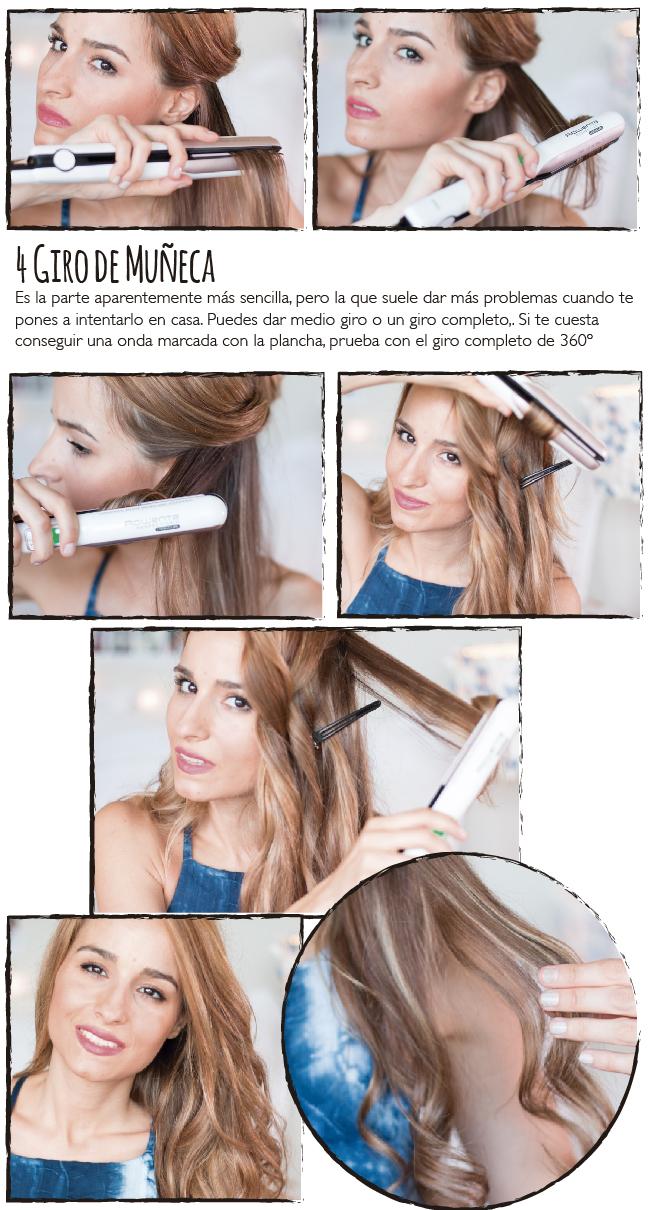 Rizar pelo con plancha paso a paso