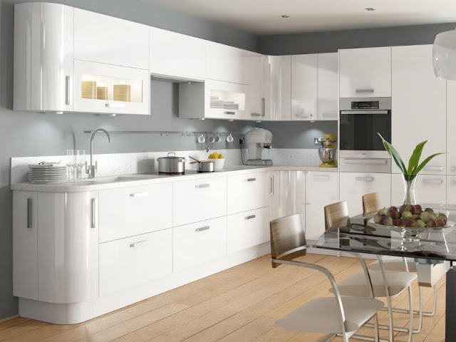 White gloss kitchen style with wooden floors White gloss kitchen style with wooden floors White 2Bgloss 2Bkitchen 2Bstyle 2Bwith 2Bwooden 2Bfloors6