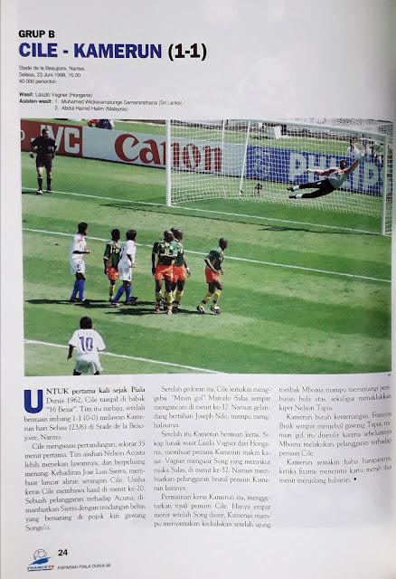 PIALA DUNIA 1998: GRUP B CILE VS KAMERUN (1-1)