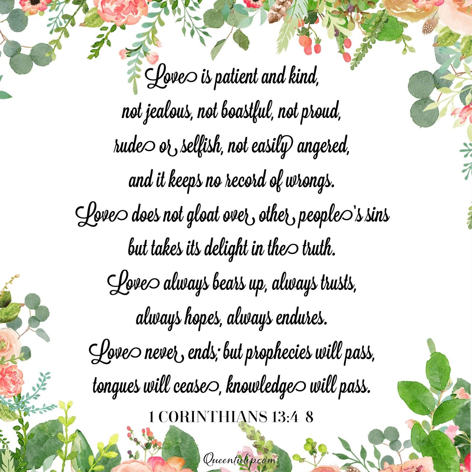 1 Corinthians 13 4 Journaling Free Printable Queentulip