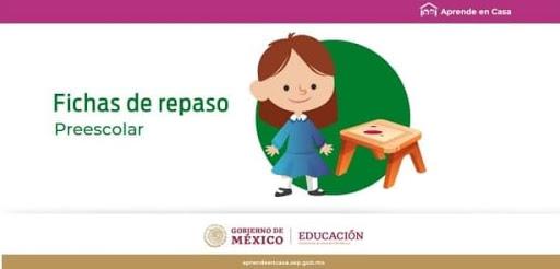 Fichas de Repaso Aprende en casa Preescolar