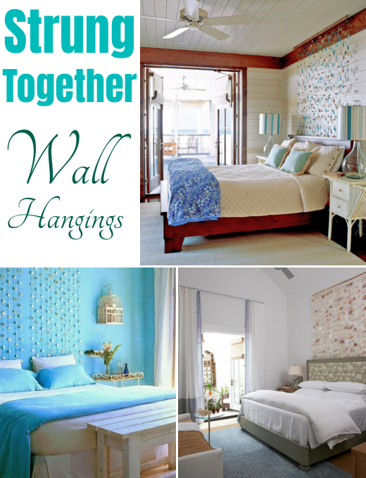 Wall Hangings Above the Bed Strung Together
