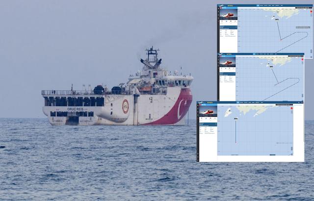 Τα 12 ναυτικά μίλια «έσπασαν»! Στα 11,2 ν.μ από το Καστελόριζο έφθασε το Oruc Reis (ΧΑΡΤΕΣ)