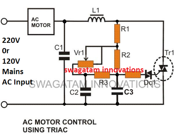 improved double capacitor based ceiling fan regulator circuit
