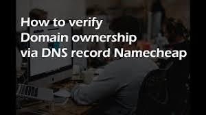كيفية إثبات ملكية النطاق في Namecheap