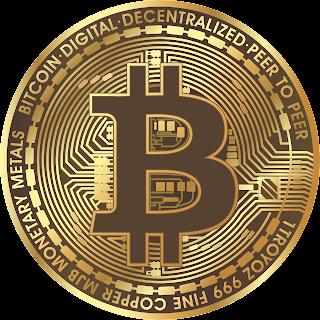 A 2D detailed Bitcoin icon