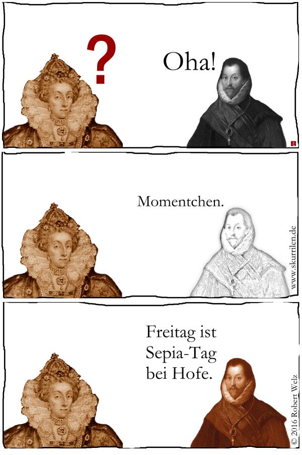Königshof, Etikette, Regeln, Sepia, Pirat, Drake, Königin, Elizabeth I
