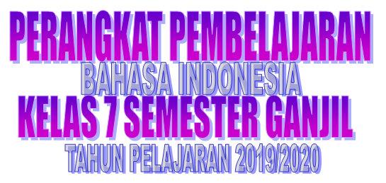 Rpp Dan Silabus Bahasa Indonesia Smp Kelas 7 Semester Ganjil Tahun Pelajaran 2019 2020 Didno76 Com