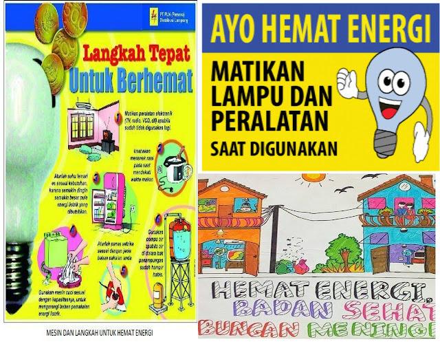 Cara membuat poster hemat energi
