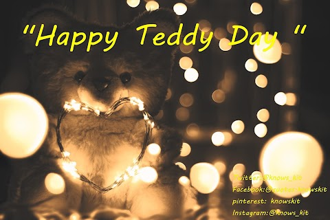 Teddy Day Love Image With Wishes And Quotes With Free Download .