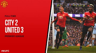 Video Gol Manchester City vs Manchester United 2-3
