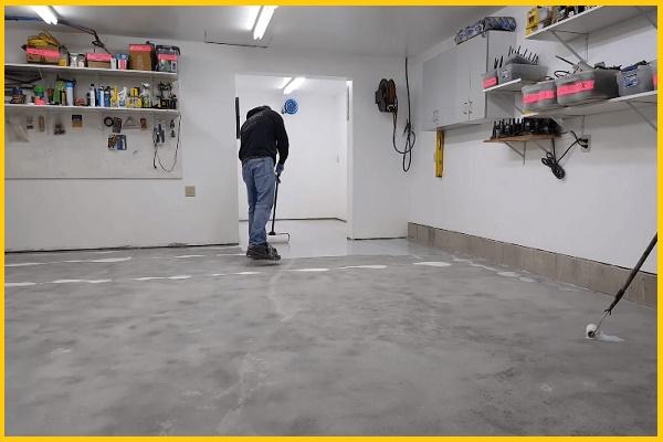 Epoxy on garage floors