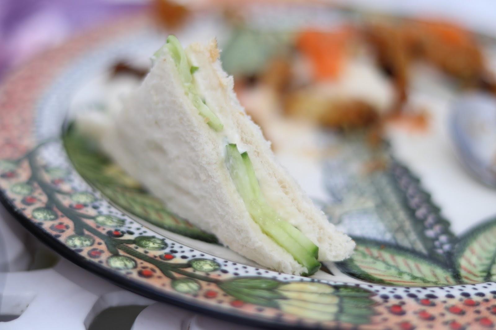 Cucumber sandwich at Ardmore Ceramics, South Africa