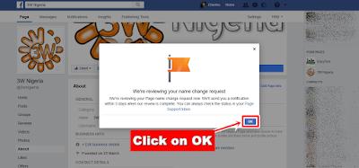 Facebook Page Name Change - OK