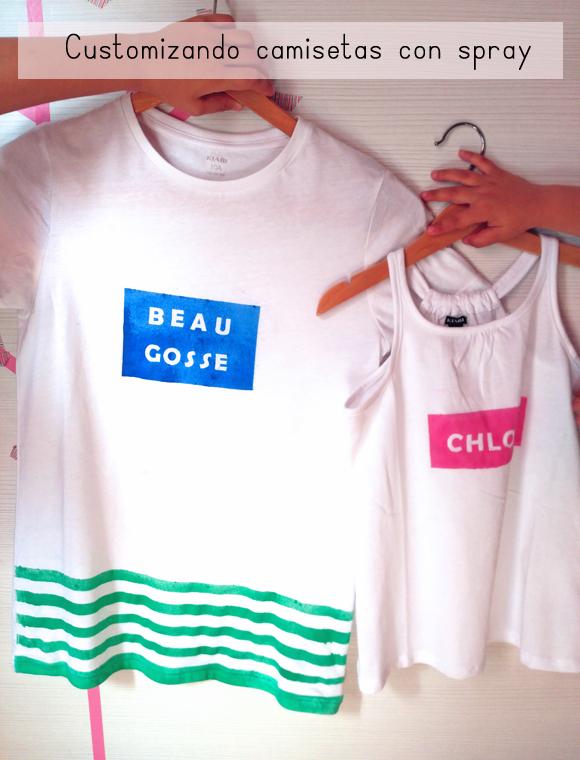 Camisetas decoradas con spray de La Pajarita para el ...