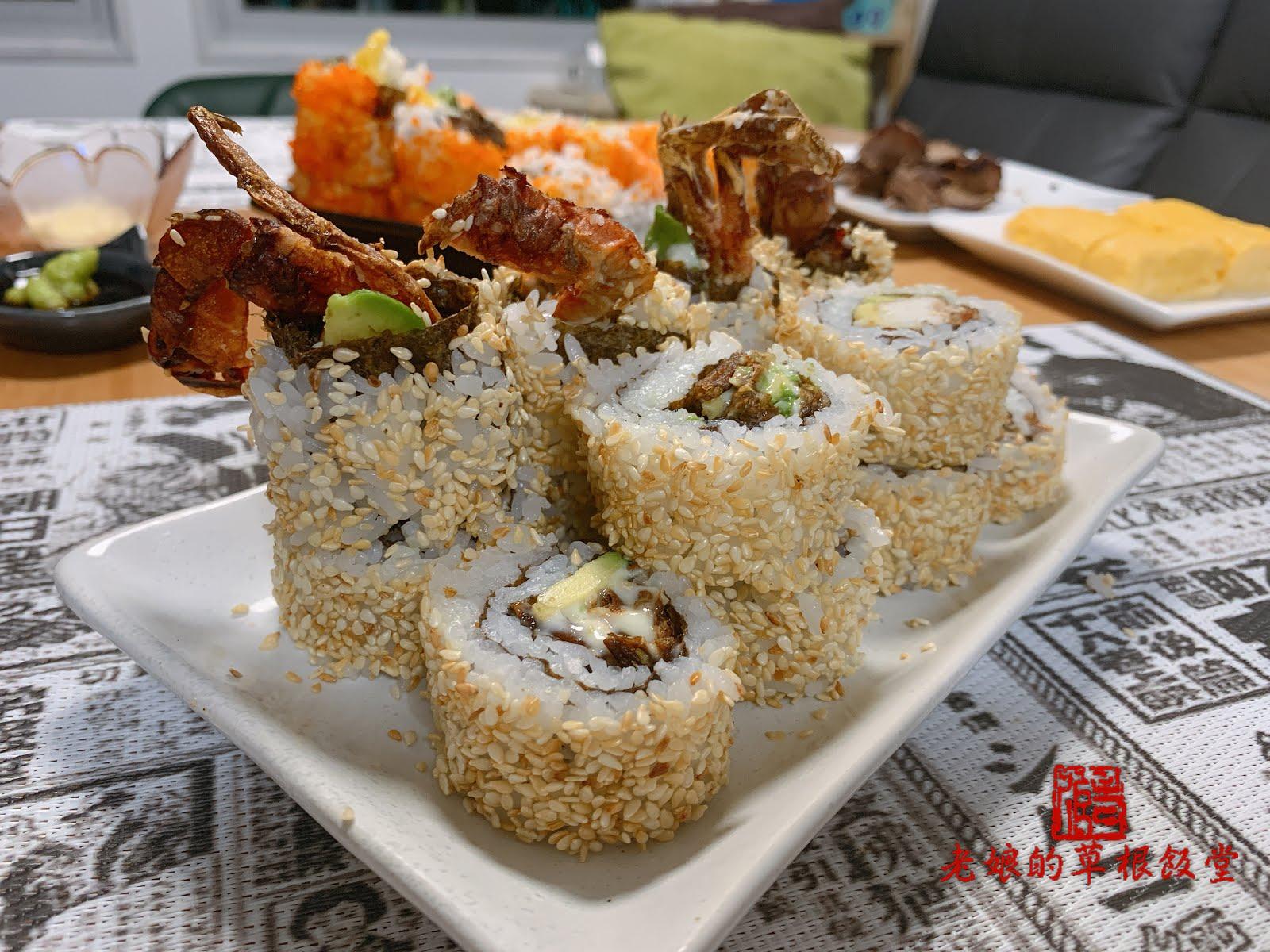 [氣炸]芝麻牛油果軟殼蟹反卷 Air Fryer Softshell Crab and Avocado Roll【老娘的草根飯堂】 - 老娘的草根飯堂 OldLady's Kitchen