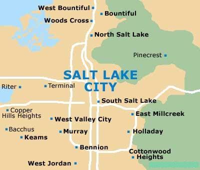 Salt Lake City Maps And Orientation Salt Lake City Utah UT USA - Salt lake city map of us