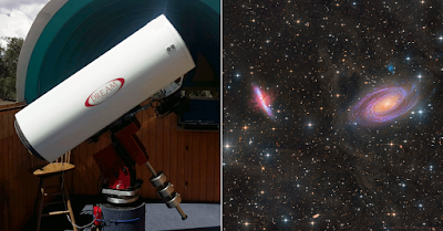ATEO-1 with an image of M81 and M82 Galaxies.