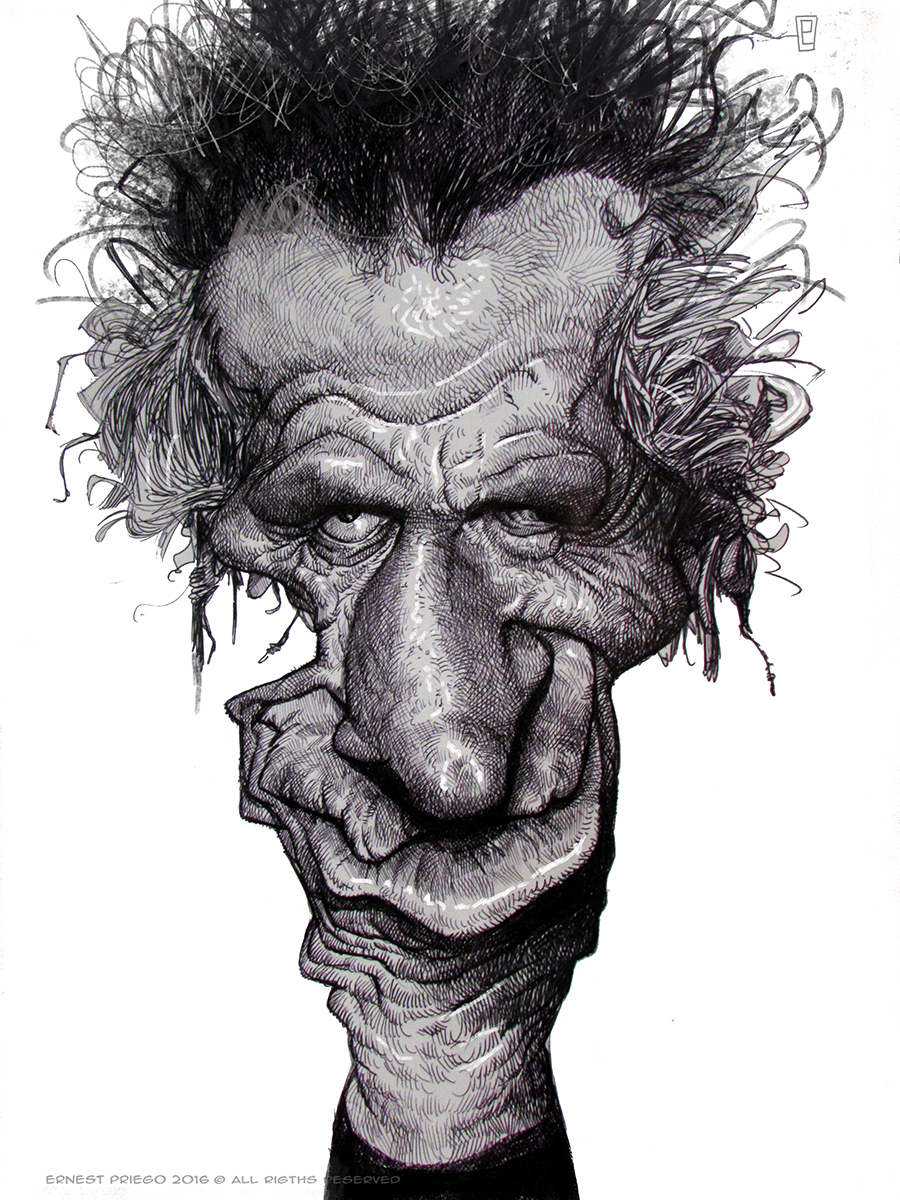 Keith Richards por Ernesto Priego