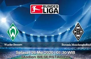 Prediksi Werder Bremen vs Borussia Monchengladbach 26 Mei 2020