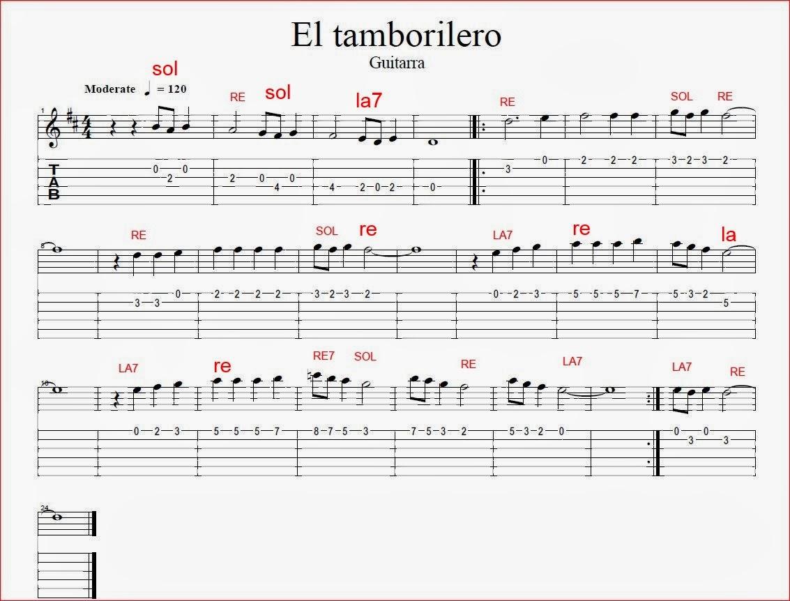 M sica y piano todo sobre m sica el tamborilero for Piano anteriore del camino