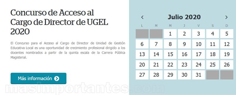 concurso para acceso a cargo de director de ugel 2020