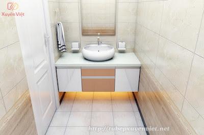 Tủ lavabo đẹp trong nhà vệ sinh