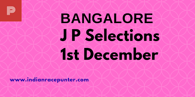 Bangalore Jackpot Selections 1st December