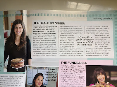 woman and home magazine, betty bake, bernice griffiths, gluten-free chocolate cake, article,