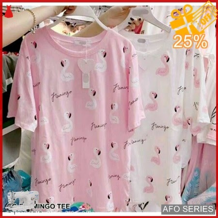 AFO034 Model Fashion Flamingo Tee Modis Murah BMGShop