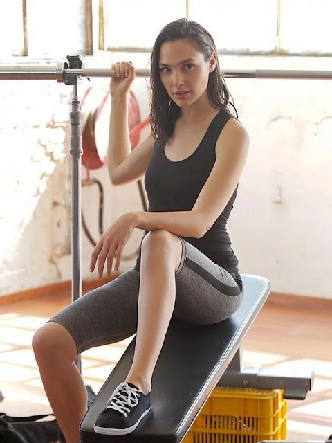 EE8 - Gal Gadot Sexy Gym Workout Images will automatically encourage you to do Exercise Wonder Girl in Fitness