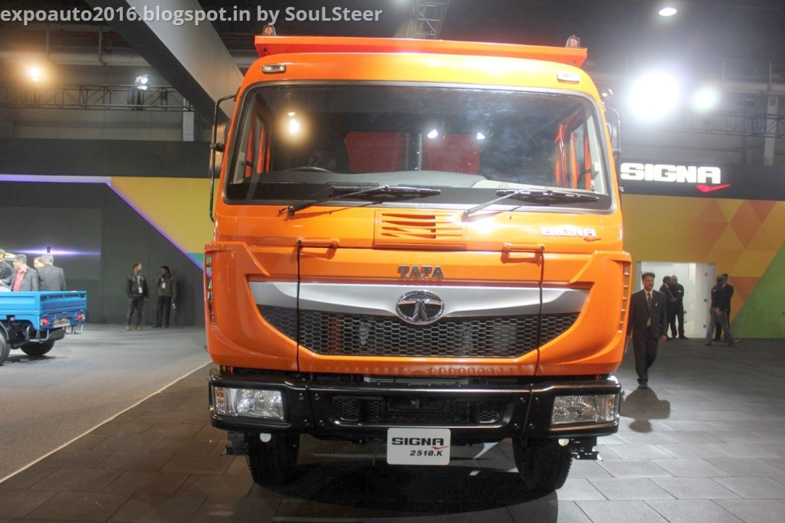 Tata Signa 2518.K, 4923.S and 3118.T trucks on display at Auto Expo 2016