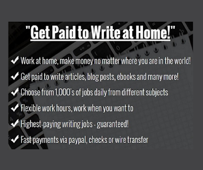 Get paid to write at home