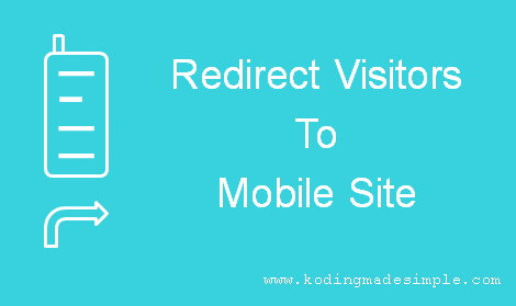 detect mobile visitors and redirect to mobile site php