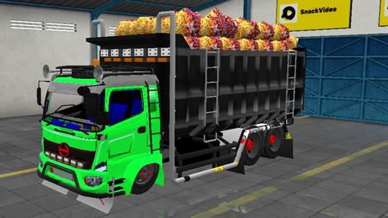 Download MOD BUSSID Truck Hino 500 Full Animasi Terbaru