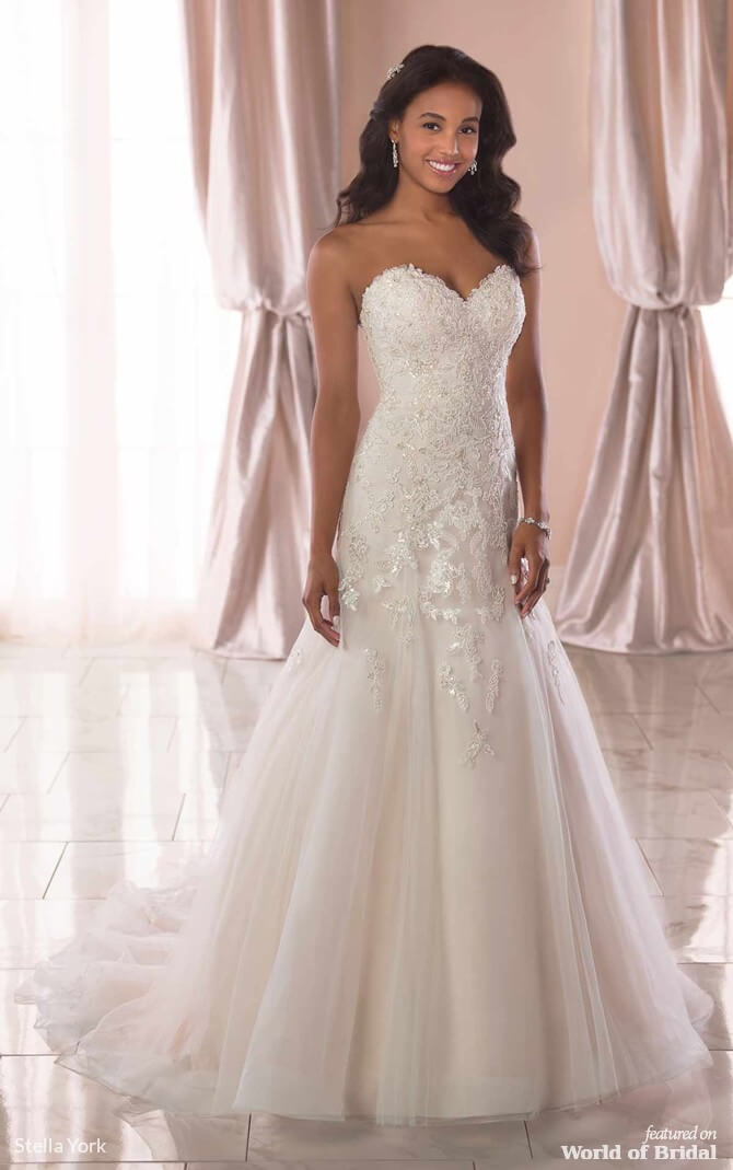 c0c6e42c7ef5 Stella York Spring 2019 Classic A-Line Wedding Dress with Silver Beading