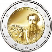 Monaco 2 euroa kolikko 2016
