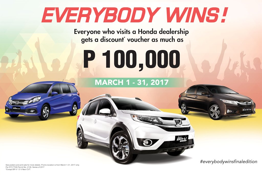 everybody wins with honda 39 s march promo philippine car news car reviews automotive features. Black Bedroom Furniture Sets. Home Design Ideas