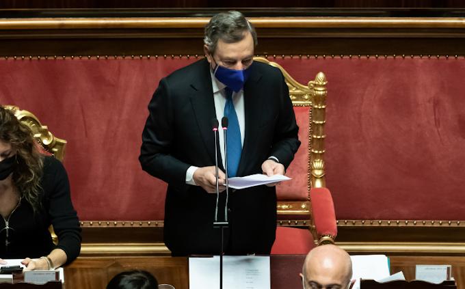 """Draghi: """"Campagna vaccinale in Italia più spedita che in Ue"""""""