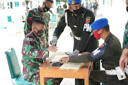 Sambut Hut Ke-75 RI, Denpom Kendari Buat  SIM TNI di Korem 143