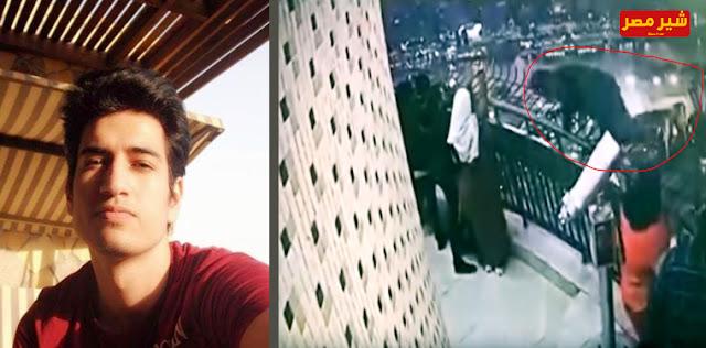 برج القاهرة اليوم - طالب هندسة يلقي بنفسه من فوق برج القاهر - فيديو انتحار طالب هندسة من برج القاهرة